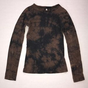 Custom Bleached COLOR STORY Long Sleeve Top